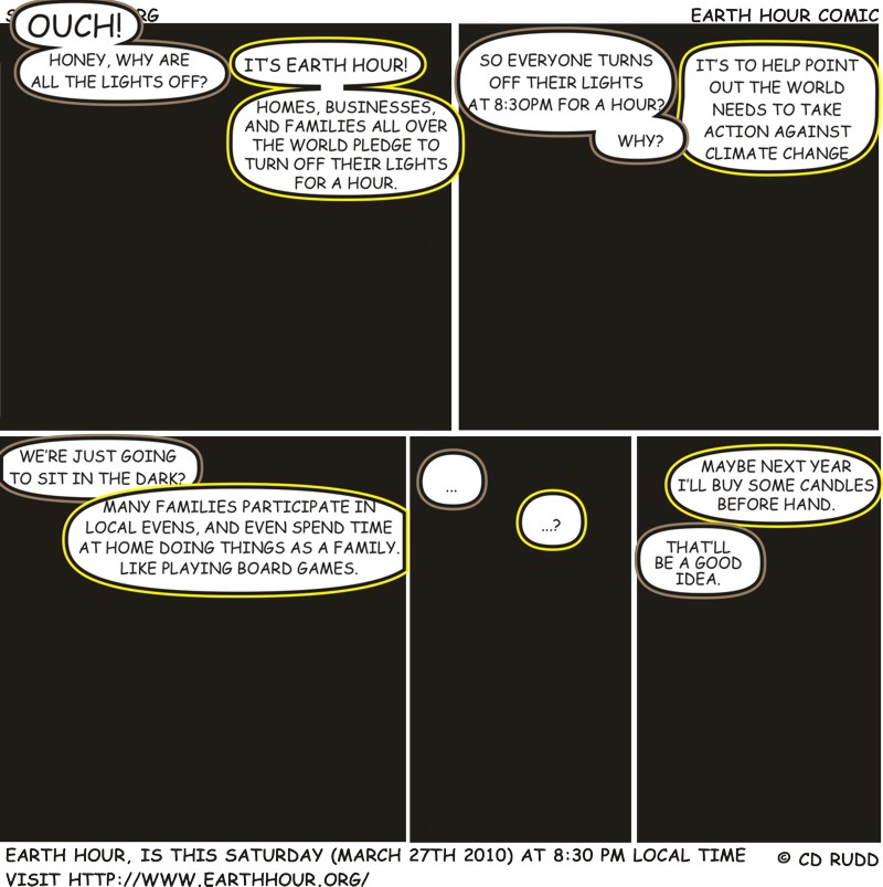 Filler : Earth Hour Comic